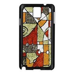 Multicolored Abstract Tribal Print Samsung Galaxy Note 3 N9005 Case (Black)