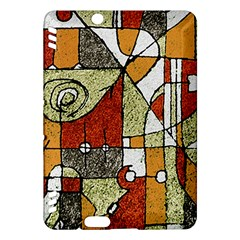 Multicolored Abstract Tribal Print Kindle Fire HDX Hardshell Case