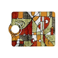 Multicolored Abstract Tribal Print Kindle Fire Hd (2013) Flip 360 Case