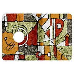 Multicolored Abstract Tribal Print Kindle Fire Hdx Flip 360 Case