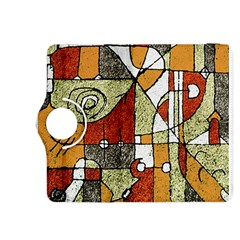 Multicolored Abstract Tribal Print Kindle Fire HDX 8.9  Flip 360 Case
