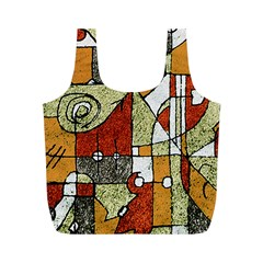 Multicolored Abstract Tribal Print Reusable Bag (m)