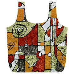 Multicolored Abstract Tribal Print Reusable Bag (XL)