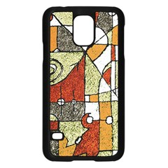 Multicolored Abstract Tribal Print Samsung Galaxy S5 Case (Black)