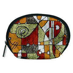 Multicolored Abstract Tribal Print Accessory Pouch (Medium)