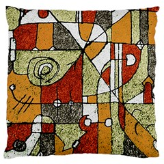 Multicolored Abstract Tribal Print Large Flano Cushion Case (Two Sides)