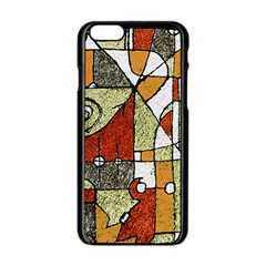 Multicolored Abstract Tribal Print Apple iPhone 6 Black Enamel Case