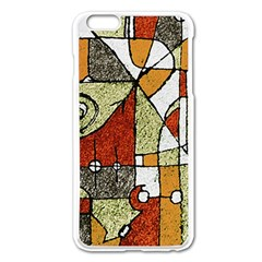 Multicolored Abstract Tribal Print Apple iPhone 6 Plus Enamel White Case