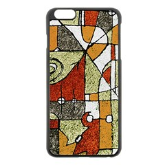 Multicolored Abstract Tribal Print Apple iPhone 6 Plus Black Enamel Case