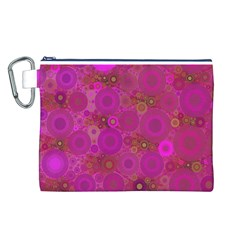 Pinka Dots  Canvas Cosmetic Bag (Large)