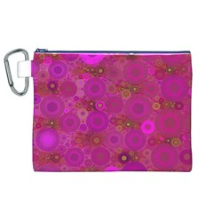 Pinka Dots  Canvas Cosmetic Bag (XL)