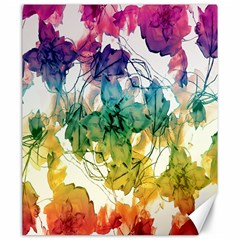 Multicolored Floral Swirls Decorative Design Canvas 20  x 24  (Unframed)