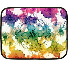 Multicolored Floral Swirls Decorative Design Mini Fleece Blanket (Two Sided)