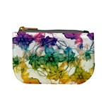 Multicolored Floral Swirls Decorative Design Coin Change Purse Front