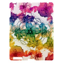 Multicolored Floral Swirls Decorative Design Apple Ipad 3/4 Hardshell Case
