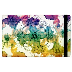 Multicolored Floral Swirls Decorative Design Apple Ipad 2 Flip Case