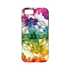 Multicolored Floral Swirls Decorative Design Apple Iphone 5 Classic Hardshell Case (pc+silicone)