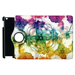 Multicolored Floral Swirls Decorative Design Apple iPad 3/4 Flip 360 Case