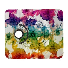 Multicolored Floral Swirls Decorative Design Samsung Galaxy S  III Flip 360 Case