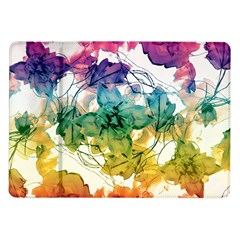 Multicolored Floral Swirls Decorative Design Samsung Galaxy Tab 10.1  P7500 Flip Case