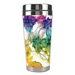 Multicolored Floral Swirls Decorative Design Stainless Steel Travel Tumbler