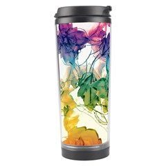 Multicolored Floral Swirls Decorative Design Travel Tumbler