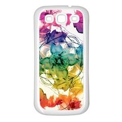 Multicolored Floral Swirls Decorative Design Samsung Galaxy S3 Back Case (white)