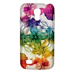 Multicolored Floral Swirls Decorative Design Samsung Galaxy S4 Mini (gt I9190) Hardshell Case