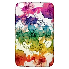 Multicolored Floral Swirls Decorative Design Samsung Galaxy Tab 3 (8 ) T3100 Hardshell Case