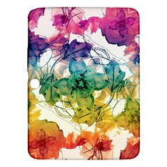 Multicolored Floral Swirls Decorative Design Samsung Galaxy Tab 3 (10.1 ) P5200 Hardshell Case