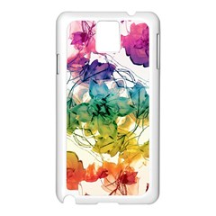 Multicolored Floral Swirls Decorative Design Samsung Galaxy Note 3 N9005 Case (white)