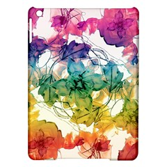 Multicolored Floral Swirls Decorative Design Apple Ipad Air Hardshell Case