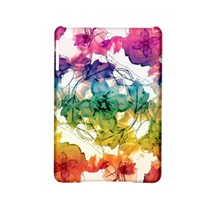Multicolored Floral Swirls Decorative Design Apple Ipad Mini 2 Hardshell Case