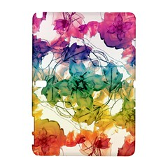 Multicolored Floral Swirls Decorative Design Samsung Galaxy Note 10.1 (P600) Hardshell Case