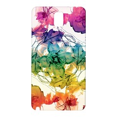 Multicolored Floral Swirls Decorative Design Samsung Galaxy Note 3 N9005 Hardshell Back Case