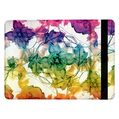 Multicolored Floral Swirls Decorative Design Samsung Galaxy Tab Pro 12.2  Flip Case