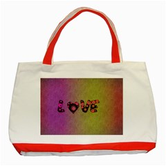 Love Abstract  Classic Tote Bag (red)