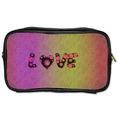 Love Abstract  Travel Toiletry Bag (two Sides)