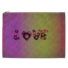 Love Abstract  Cosmetic Bag (xxl)