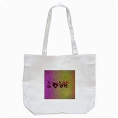 Love Abstract  Tote Bag (white)