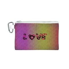Love Abstract  Canvas Cosmetic Bag (Small)