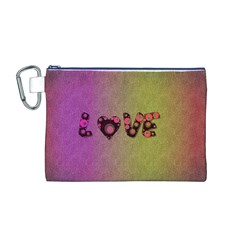 Love Abstract  Canvas Cosmetic Bag (Medium)