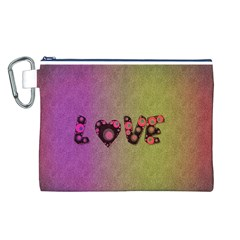 Love Abstract  Canvas Cosmetic Bag (Large)