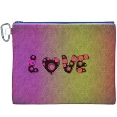 Love Abstract  Canvas Cosmetic Bag (xxxl)