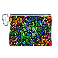 Bling Skiddles Canvas Cosmetic Bag (large)