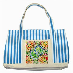 Neon Skiddles Blue Striped Tote Bag
