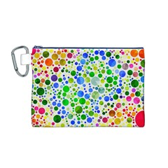 Neon Skiddles Canvas Cosmetic Bag (Medium)