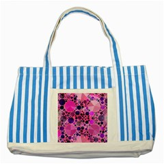 Pink Bling  Blue Striped Tote Bag