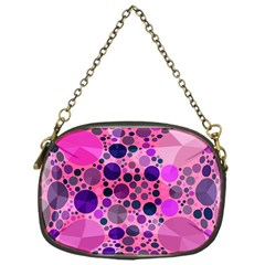 Pink Bling  Chain Purse (one Side)