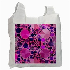 Pink Bling  White Reusable Bag (two Sides)